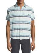 Pool Stripe Short-Sleeve Sport Shirt