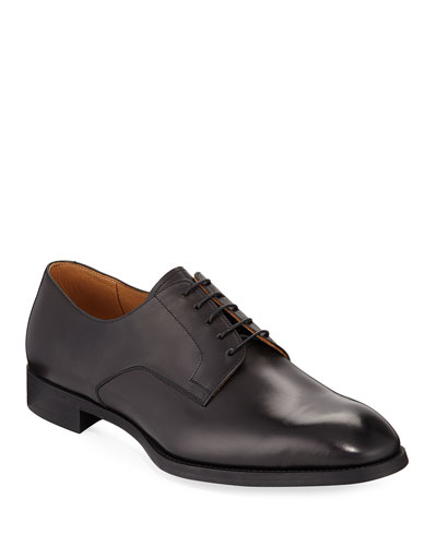 York Smooth Leather Rubber-Sole Derby Shoe