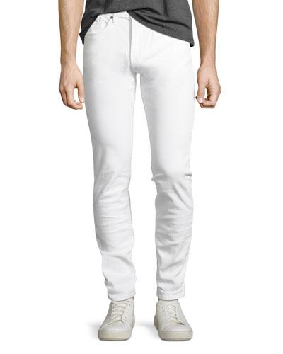 Men's Brixton Slim-Straight Jeans, White