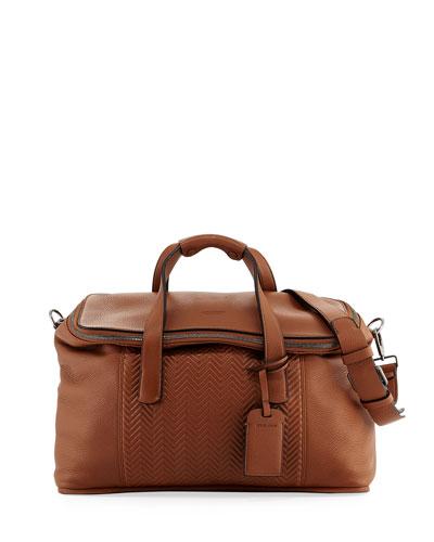 Calf Leather Weekender Bag