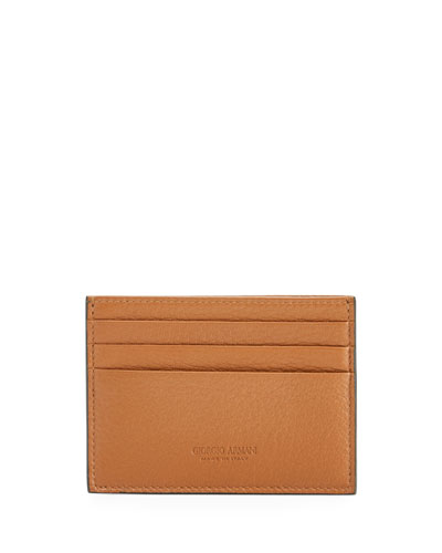 Leather Cardholder Color Brown