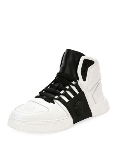 Fashion Show Medusa-Embossed High-Top Sneaker