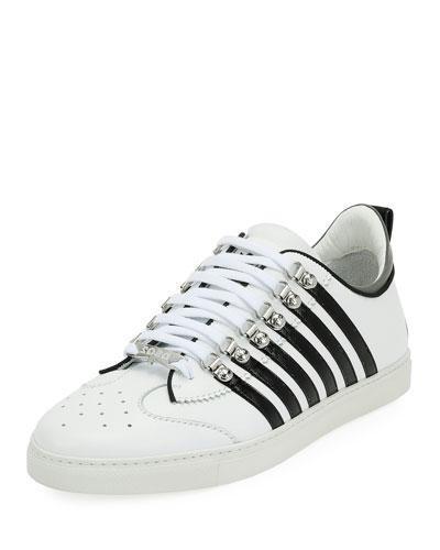 Men's Low-Top Contrast-Stripe Sneakers