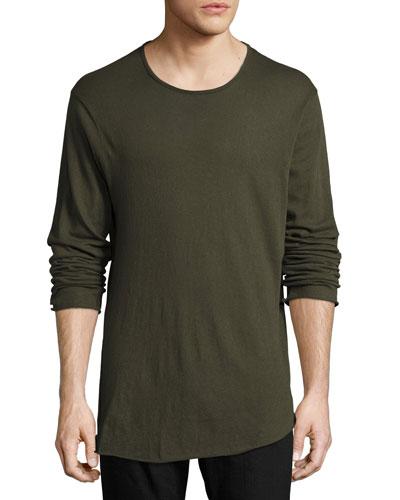 Hartley Long-Sleeve Linen T-Shirt