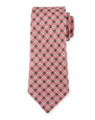 Flower Medallion Silk Tie