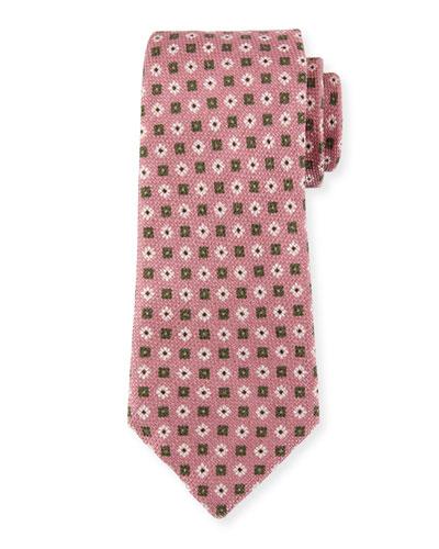 Flower Medallion Silk Tie