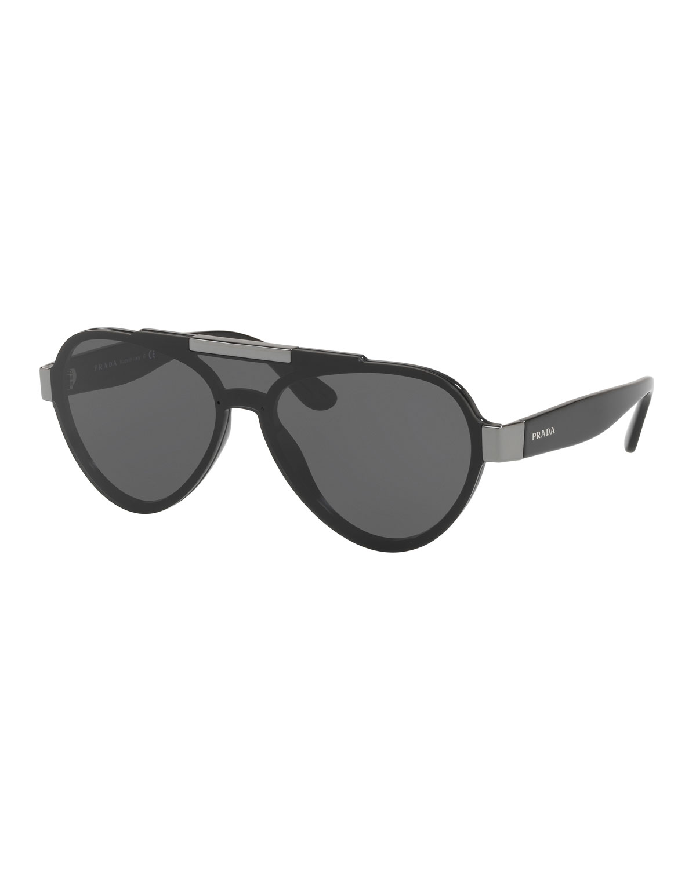 Men's Plastic Aviator Sunglasses