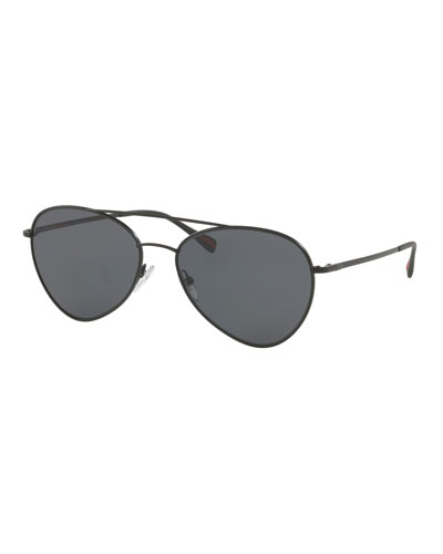 Men's Polarized Metal Pilot Sunglasses