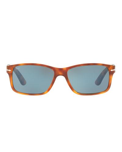 Rectangular Propionate Sunglasses with Gradient Lenses
