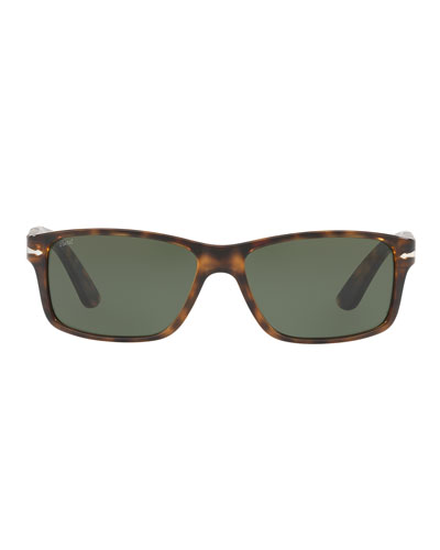 Rectangular Propionate Sunglasses with Solid-Color Lenses