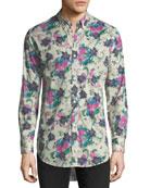 Strenton Floral-Print Cotton Sport Shirt