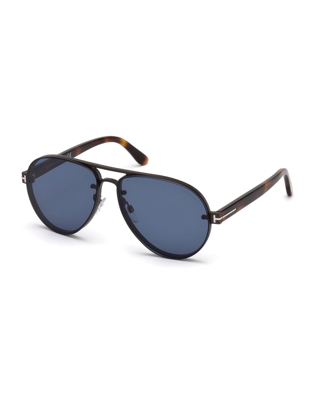 Alexei Metal Aviator Sunglasses