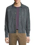 Cullen Button-Front Suede Jacket