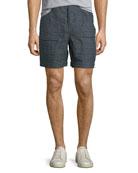 Everett Plaid Linen Shorts