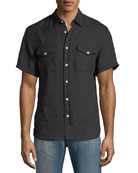 Graham Pocket Short-Sleeve Sport Shirt