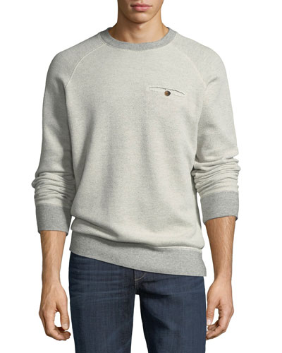 Tommy Crewneck Sweatshirt with Elbow Patches