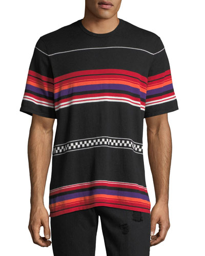 Jacquard Striped Knit Shirt