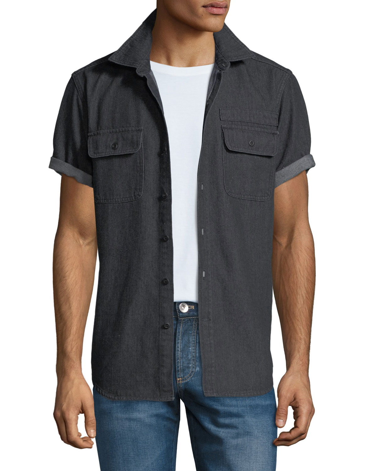 Men's Denim Camp Shirt