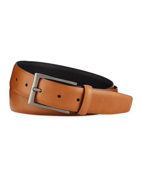 Ermenegildo Zegna Men's Smooth Leather Belt