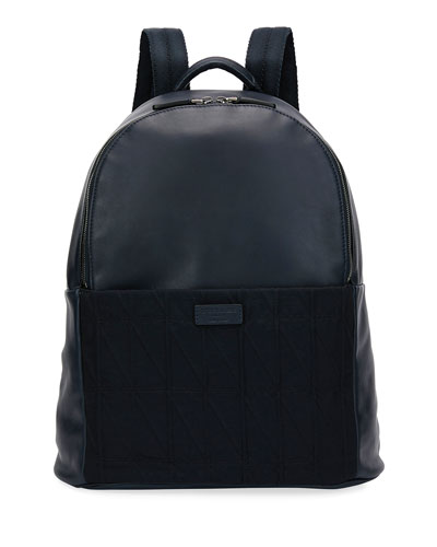 Leather & Knit Backpack