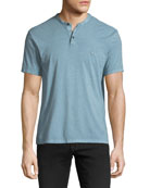 Sublime-Wash Short-Sleeve Henley Shirt