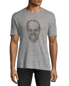 Skull Graphic Heathered T-Shirt