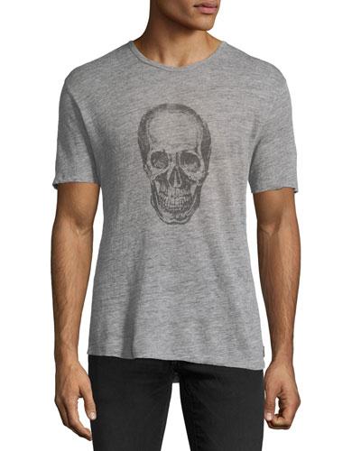Skull Graphic Heathered T-Shirt