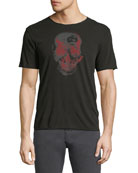 Two-Tone Skull Graphic T-Shirt
