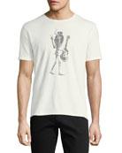 Slash Skeleton Graphic T-Shirt
