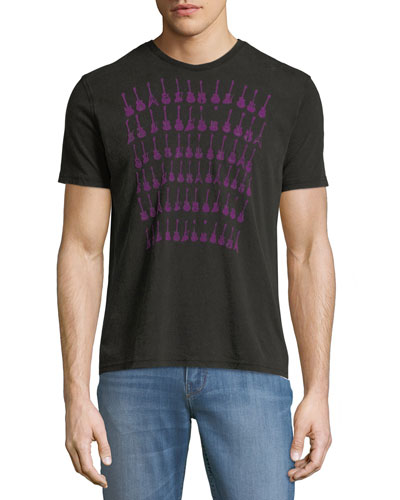 Guitar Rows Graphic T-Shirt