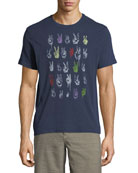 Peace Sign Rows Graphic T-Shirt