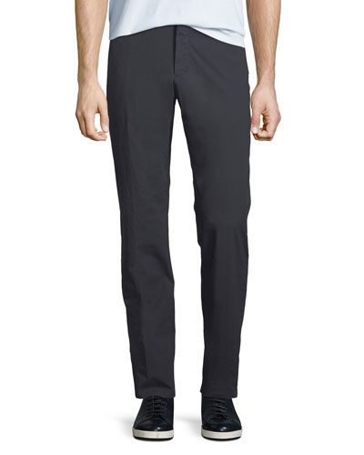 Men's Cotton-Blend Straight-Leg Pants