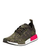Men's NMD_R1 Knit Trainer Sneaker, Green