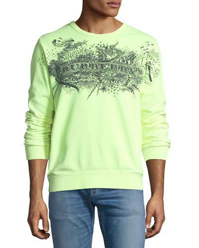 Scribble Logo Graphic Sweatshirt