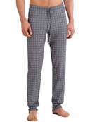 Basil Diamond-Pattern Knit Lounge Pants