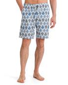 River Geometric-Print Woven Shorts