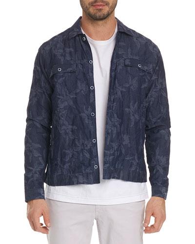 Ares Floral-Patter Denim Jacket
