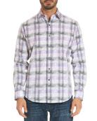 Malecon Two-Tone Plaid Sport Shirt