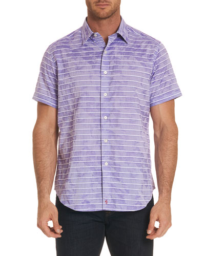 Avenida Striped Short-Sleeve Shirt