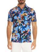 Santa Fe Pixelated Short-Sleeve Shirt