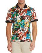 Floral-Print Polo Shirt
