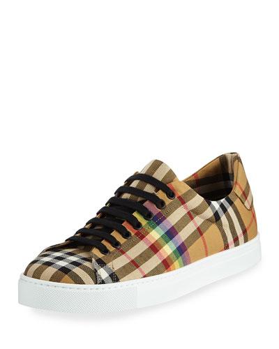 Albert Rainbow Check Sneaker