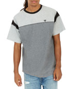 Heathered Colorblock Football T-Shirt