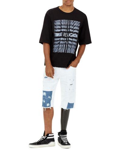 Ricky Flap-Pocket Distressed Cutoff Shorts