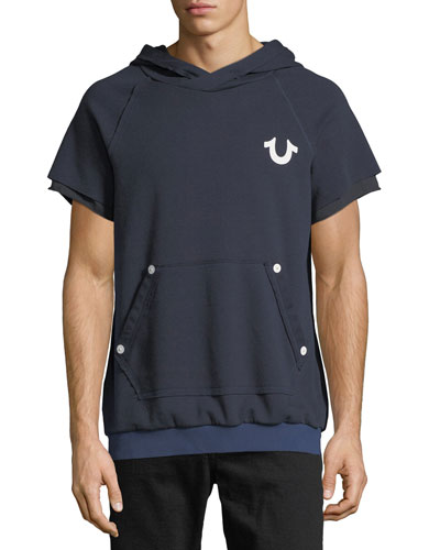 Short-Sleeve Pullover Hoodie