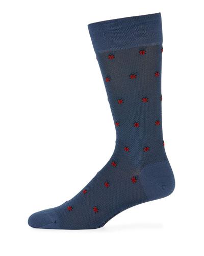 Ladybugs Cotton-Blend Socks