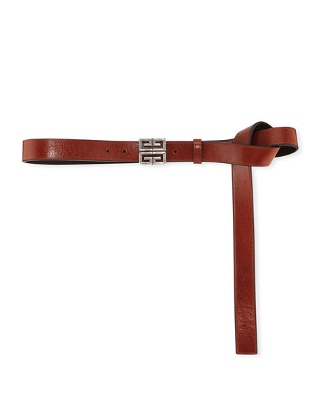 Givenchy 4-G Engraved Long Leather Belt