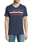 Americana Waves Graphic T-Shirt