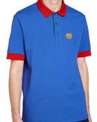Colorblock Crest Polo Shirt