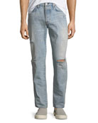 Hudson Men's Dixon Easy Straight Jeans, Lone Wolf